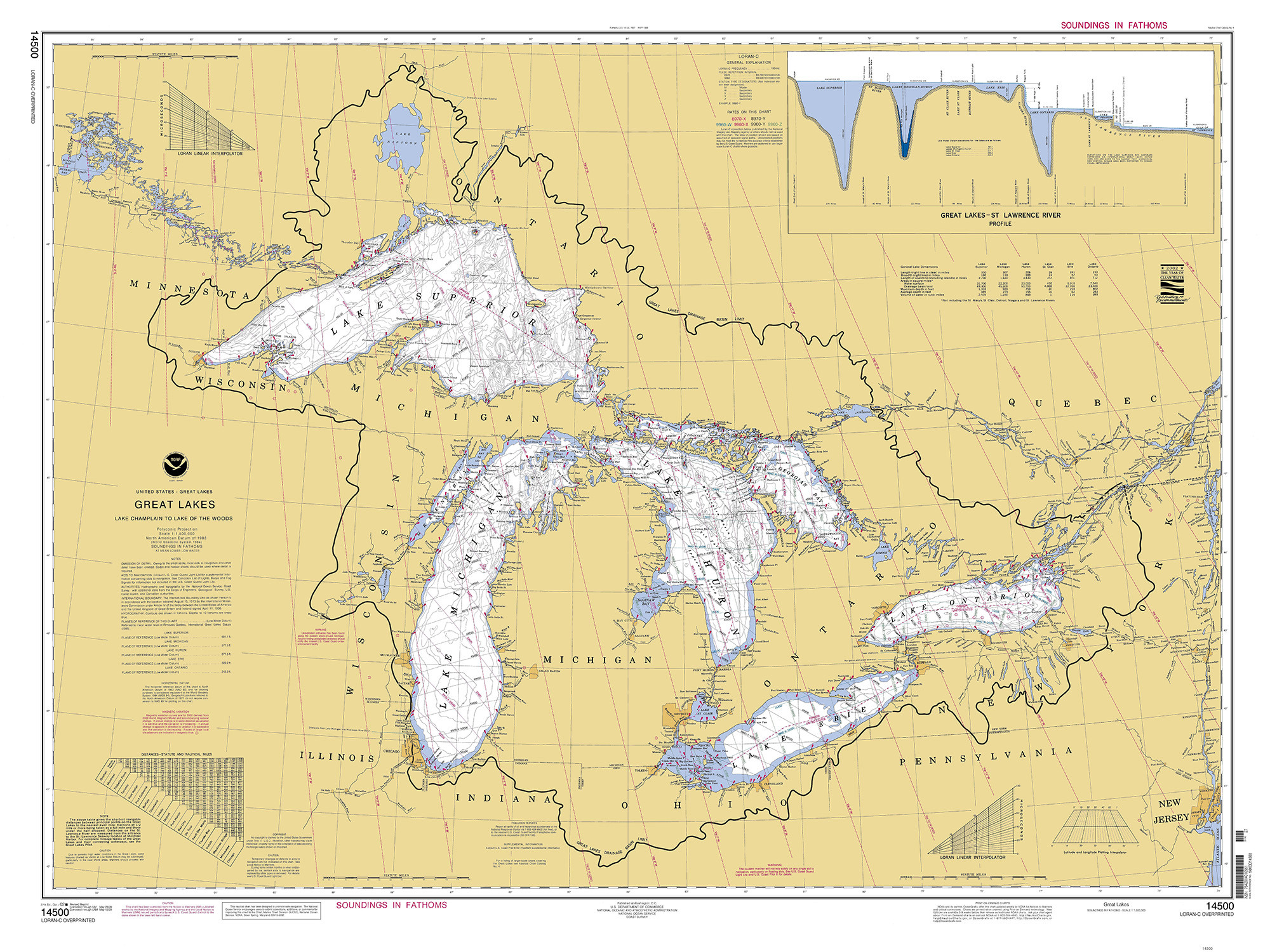 Historical Nautical Chart - 14500-05-2009 Great Lakes on rocky mountains united states map, west central united states map, great lakes map with states, great lakes states outline map, atlantic ocean united states map, colorado river united states map, big united states map, gulf coast united states map, gulf of mexico united states map, toronto united states map, the northeast united states map, rio grande united states map, gulf of alaska united states map, great lakes florida, lake tahoe united states map, great lakes google maps, appalachian mountains united states map, major rivers united states map, lake michigan united states map, lake erie united states map,