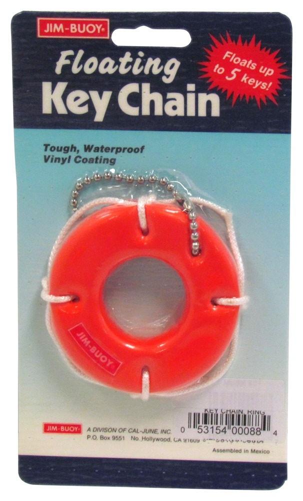 Foam Key Ring Tag Buoy Orange