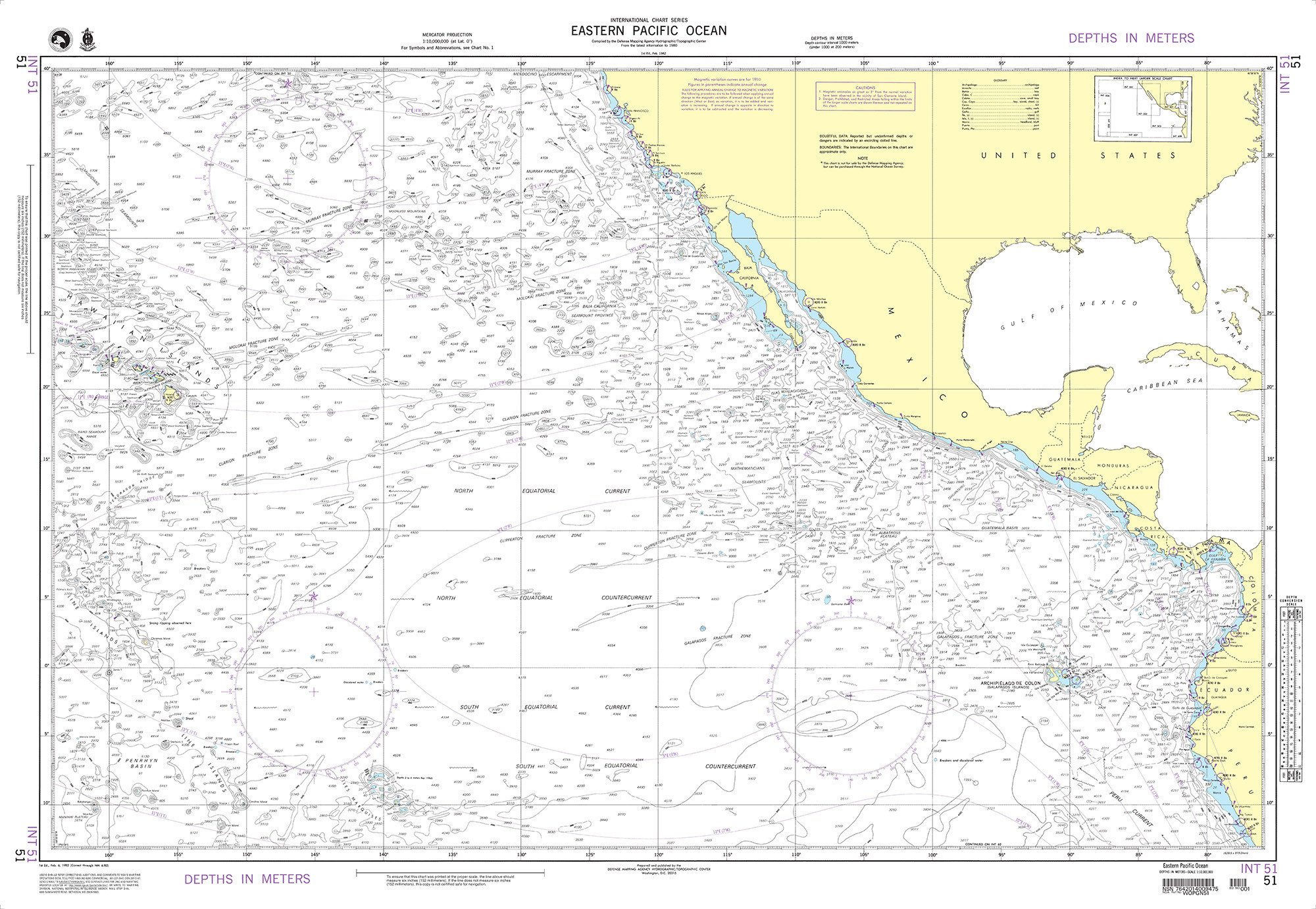 BA Chart 4002 A Planning Chart for the Pacific Ocean
