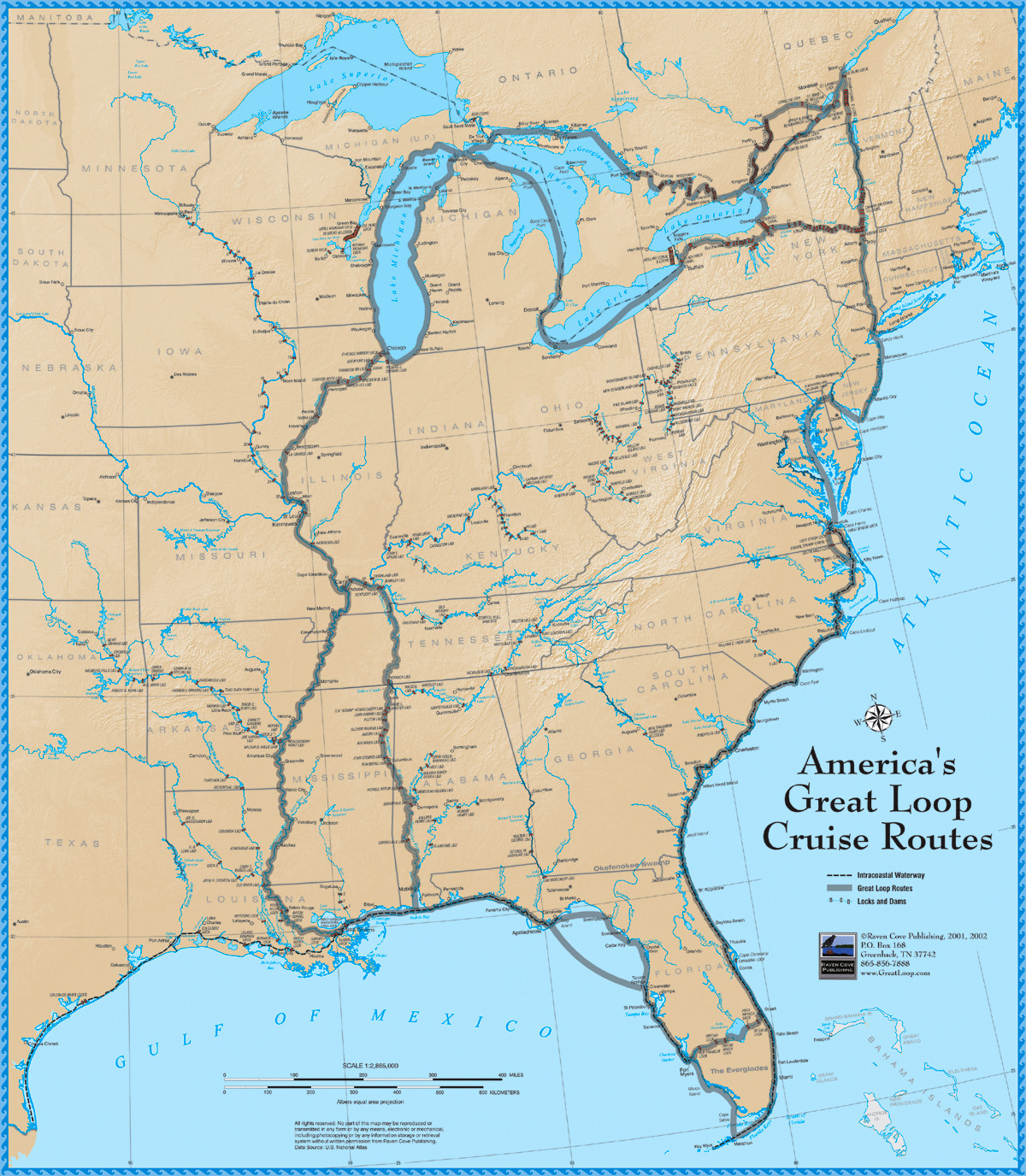 America\'s Great Loop Cruise Map