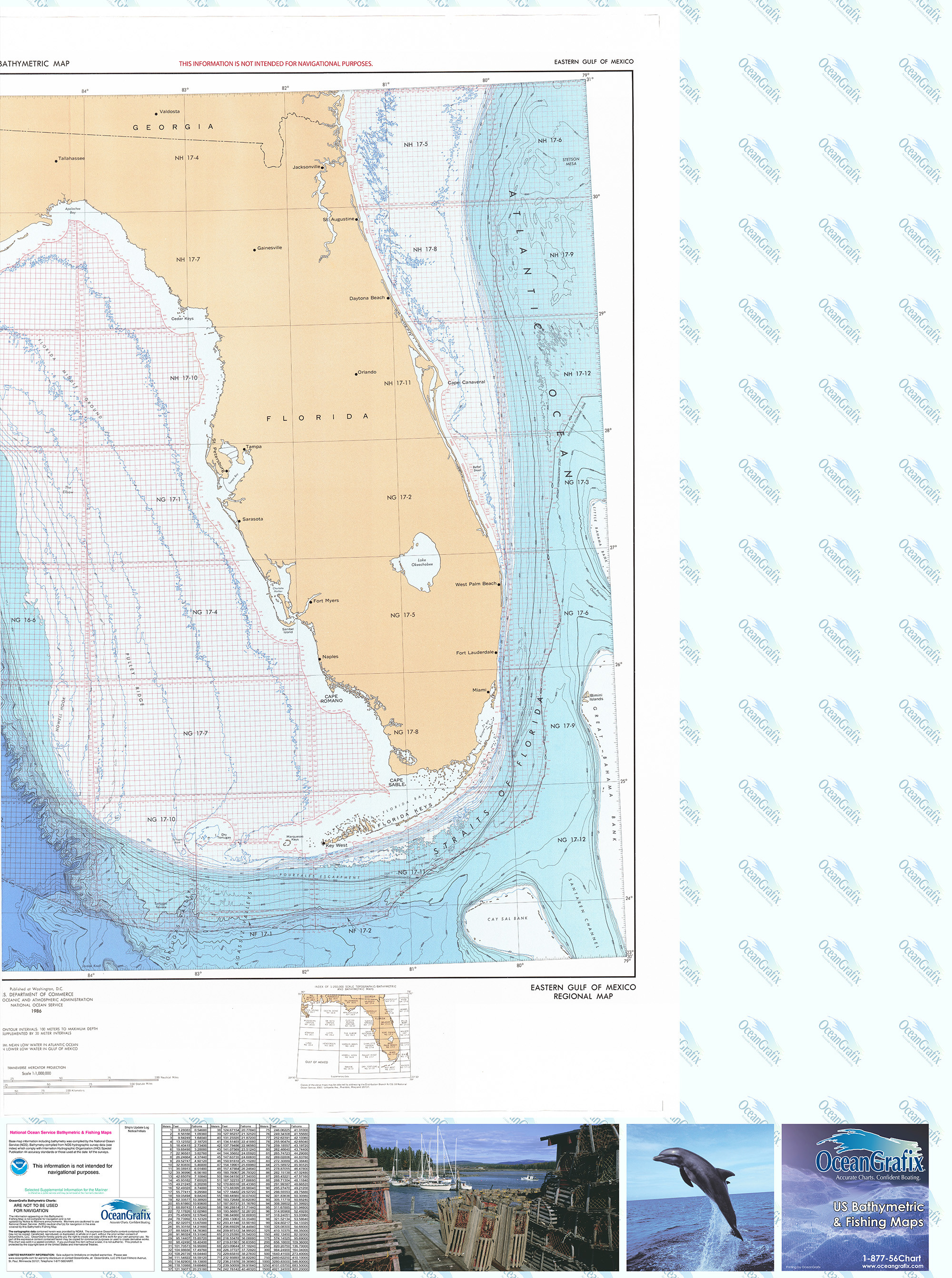 Bathymetric Nautical Chart - BR-6PT2 Eastern Gulf Of Mexico-2