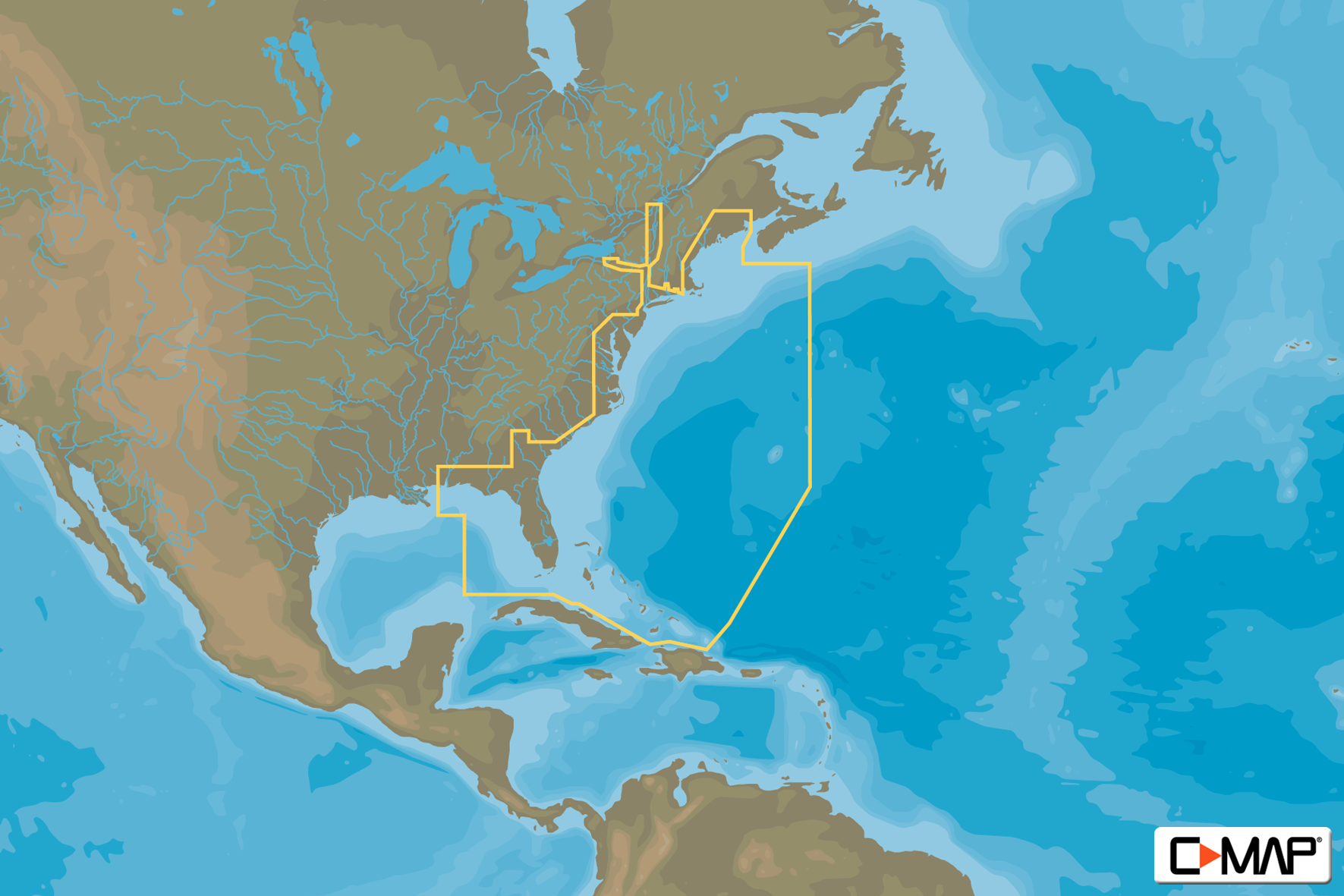 C-MAP MAX Wide - US East Coast & Bahamas