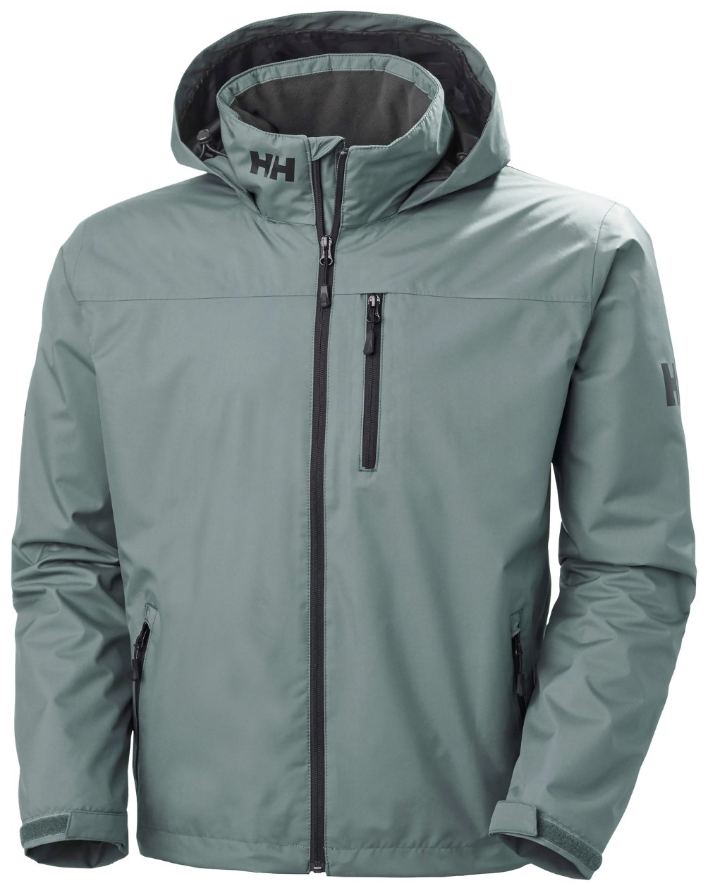 Helly-Hansen Mens Crew Hooded Midlayer Fleece Lined Waterproof Raincoat Jacket