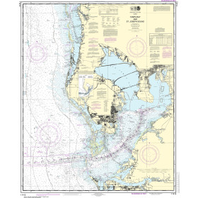 Intracoastal Waterway Carrabelle to Apalachicola Bay; Carrabelle River 21.00 x 25.10 Paradise Cay Publications NOAA Chart 11404 Small Format Waterproof